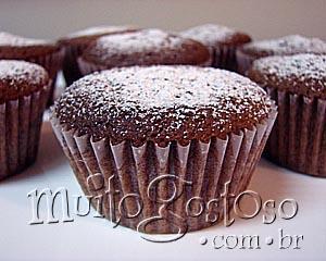 Receita de cupcakes de chocolate simples