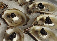 receita ostra creme caviar