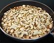 cozinhando os cogumelos